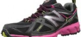 New Balance Women's WT610 Trail Running Shoe,Black/Pink,7.5 B US