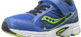 Saucony Boys Cohesion 7 A/C Running Shoe (Little Kid/Big Kid),Blue/Black/Green,2 M US Little Kid
