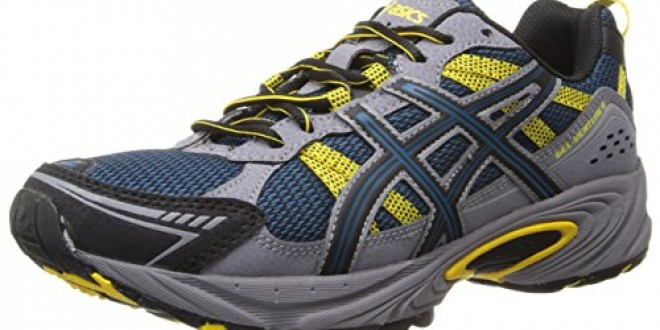 ASICS Men's Gel-Venture 4 Running Shoe,Mallard/Black/Yellow,9.5 M US