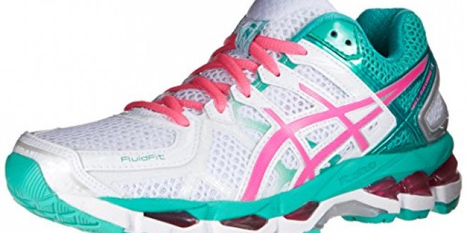 ASICS Women's Gel-Kayano 21 Running Shoe,White/Hot Pink/Emerald,9.5 M US