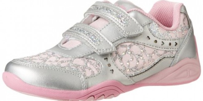 Stride Rite Sunny Running Shoe (Toddler/Little Kid),Silver/Light Pink,7.5 M US Toddler