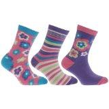 Girls Flower/Heart Pattern Socks (Pack Of 3) Featured