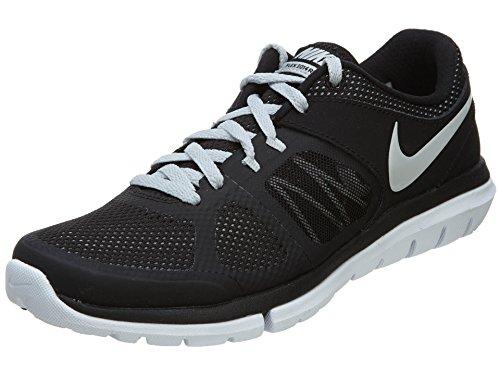 Nike Women's Flex 2014 Rn Black/Mtlc Platinum/White Running Shoe 8 Women US Featured