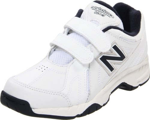 New Balance KV624 Hook and Loop Training Shoe (Little Kid/Big Kid),White/Navy,5.5 XW US Big Kid Featured