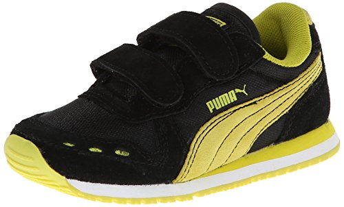 PUMA Cabana Racer NM V Sneaker (Toddler/Little Kid/Big Kid),Black/Sulphur Spring,12 M US Little Kid Featured